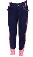 Horka 'Jolly' Kyla Junior Jodhpurs with Knee Patches in Blue